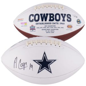 Fanatics Authentic Amari Cooper Dallas Cowboys Autographed White Panel Football