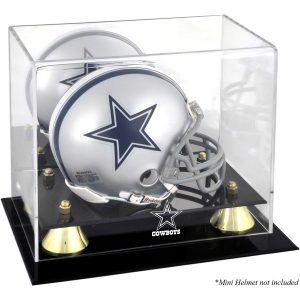 Fanatics Authentic Dallas Cowboys Golden Classic Mini Helmet Display Case
