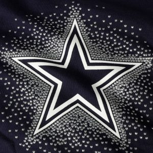 Girls Youth Dallas Cowboys Navy Decker V-Neck T-Shirt