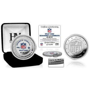 Highland Mint Dallas Cowboys 2018 NFL Playoffs Wild Card Victory Silver Mint Coin