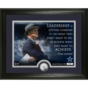 Highland Mint Tom Landry Dallas Cowboys Quote Photomint