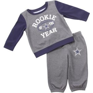 Infant Dallas Cowboys Heathered Charcoal/Navy Buster T-Shirt & Pants Set