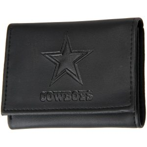 Men's Dallas Cowboys Black Hybrid Tri-Fold Wallet