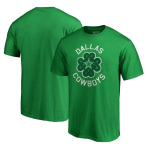 Men's Dallas Cowboys Green Big & Tall St. Patrick's Day Luck Tradition T-Shirt