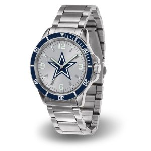 Men's Dallas Cowboys Sparo Silver Key Bracelet Quartz Watch