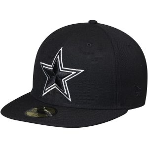 New Era Dallas Cowboys Black Omaha II 59FIFTY Fitted Hat