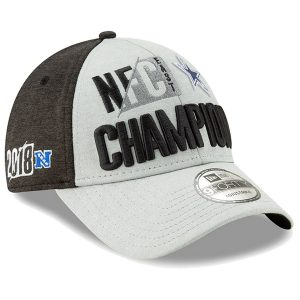 Dallas Cowboys Heather Gray 2018 NFC East Champions Adjustable Hat