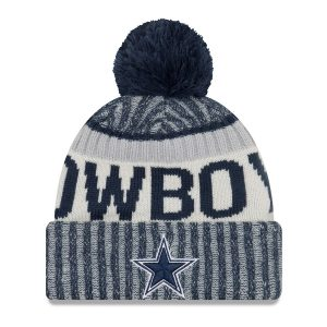 New Era Dallas Cowboys Navy 2017 Sideline Official Sport Knit Hat