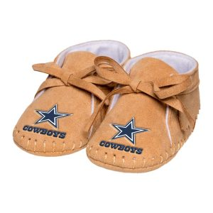 Newborn & Infant Dallas Cowboys Tan Fringe Baby Booties
