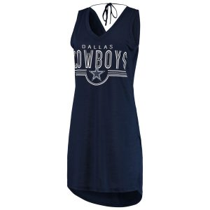 Women's Dallas Cowboys G-III 4Her by Carl Banks Navy Synergy Swimsuit Cover-Up