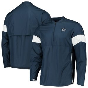 Men's Dallas Cowboys Nike Navy Sideline Coaches Half-Zip Jacket