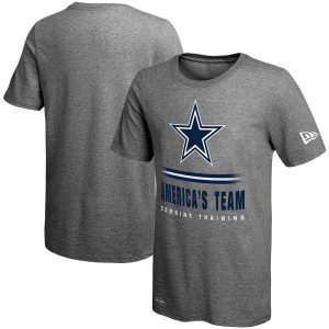 Dallas Cowboys New Era Combine Team Slogan Lockup T-Shirt – Heathered Gray