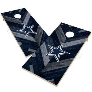 Dallas Cowboys 2′ x 4′ Herringbone Design Cornhole Set