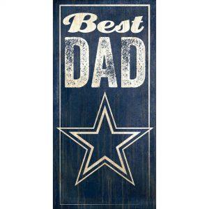 "Dallas Cowboys 6"" x 12"" Best Dad Sign"