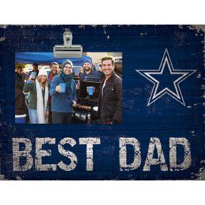 """Dallas Cowboys 8"""" x 10.5"""" Best Dad Clip Frame"""