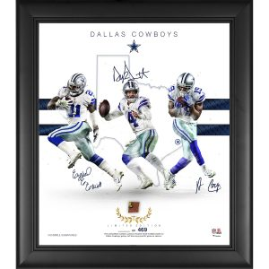 Dallas Cowboys Framed Collage with Piece of Game Used Football – Limited Edition of 469