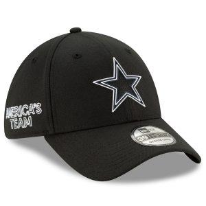 Men's Dallas Cowboys New Era Black 2020 NFL Draft Official 39THIRTY Flex Hat