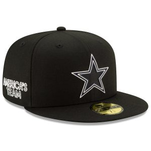 Men's Dallas Cowboys New Era Black 2020 NFL Draft Official Draftee 59FIFTY Fitted Hat