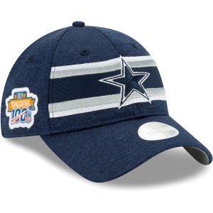 Women's Dallas Cowboys New Era Navy 2019 Thanksgiving Sideline 9TWENTY Adjustable Hat
