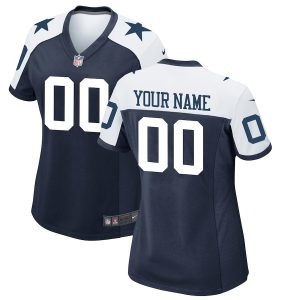 Women's Dallas Cowboys Nike Navy Custom Throwback Game Jersey