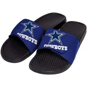 Youth Dallas Cowboys Cropped Big Logo Slide Flip Flops