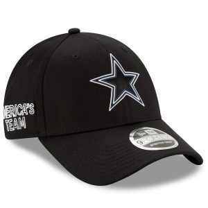 Youth Dallas Cowboys New Era Black 2020 NFL Draft 9FORTY Adjustable Hat