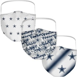 Dallas Cowboys Adult Official Logo Face Covering 3-Pack