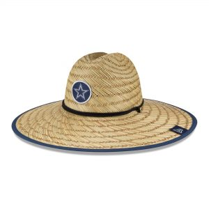 Dallas Cowboys New Era 2020 NFL Summer Straw Bucket Hat