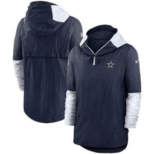 Dallas Cowboys Nike Sideline Pregame Player Quarter-Zip Jacket
