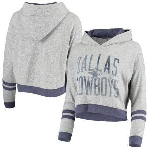 Dallas Cowboys Women's Delilah Crop Pullover Hoodie