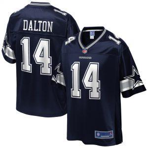Men's Dallas Cowboys Andy Dalton Navy Team Player Jersey