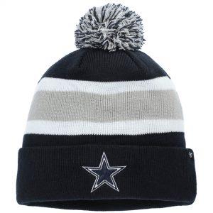 Men's Dallas Cowboys '47 Navy Breakaway Cuffed Knit Hat with Pom