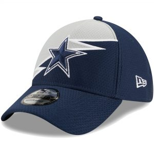 New Era Dallas Cowboys Navy Bolt 39THIRTY Flex Hat