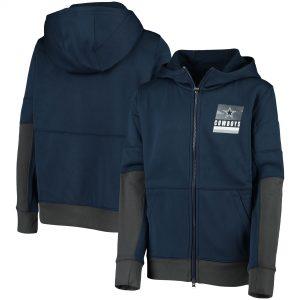Nike Dallas Cowboys Navy Performance Full-Zip Hoodie Jacket