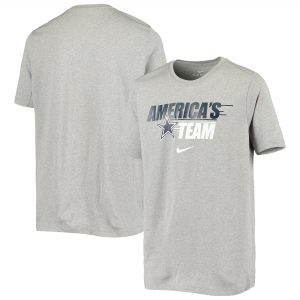 Youth Dallas Cowboys Nike Heathered Gray Local Motion Performance T-Shirt