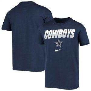 Youth Dallas Cowboys Nike Navy Split Name T-Shirt